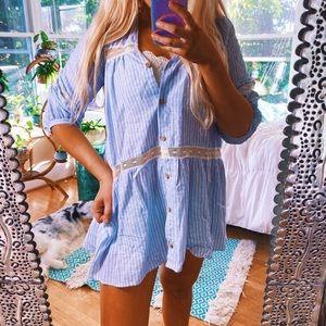 [New W/Tags] Zara Babydoll Crochet Smock Top 🌈